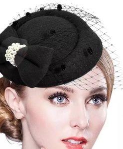 Fascinators Hat Women Flower Mesh Fedoras Hat Head